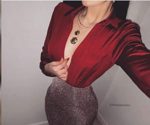 fashion, mode, and grey&red image