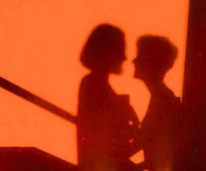 love, couple, and orange image