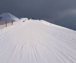 mountain, snow, and snowboarding image