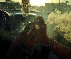 smoke, weed, and car image