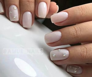 manicure, pink, and pink nails image