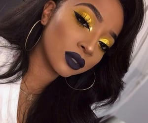 makeup, gold, and yellow image