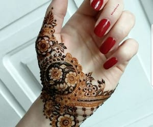 henna tattoo, tattoo, and mehndi design image