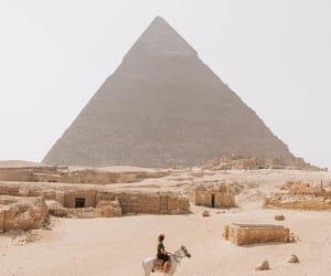 travel, egypt, and pyramid image