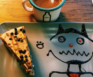 cafe, cake, and coffe image