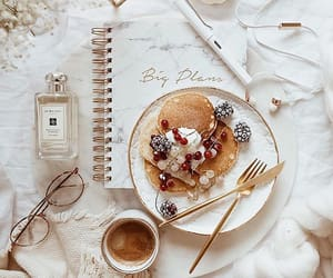 dessert, pancakes, and planner image