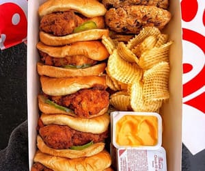 food, Chicken, and burger image