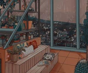 aesthetic, rain, and theme image