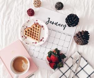 agenda, calendar, and coffee image