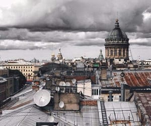 architecture, cathedral, and clouds image