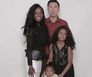 blended, korean, and interracial couple image