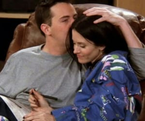 friends, couple, and chandler bing image