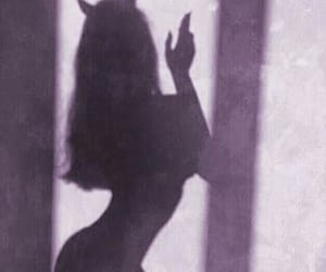 girl, shadow, and Devil image
