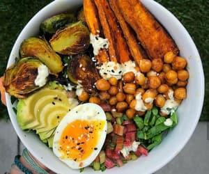 eggs, food, and gym image