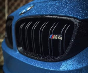 bmw, rain drops, and bmw m4 image