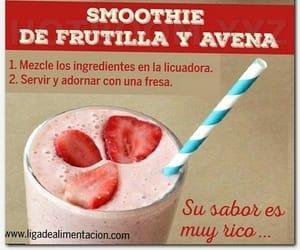 smoothie, frutilla, and sano image