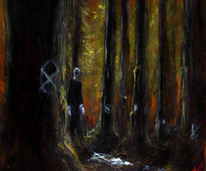 no face, scary, and slender man image