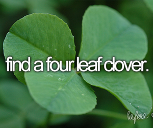 four leaf clover, Dream, and before i die image