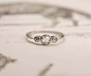 diamond, ring, and silver image