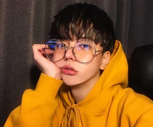 boy, aesthetic, and glasses image