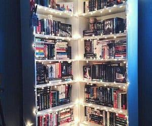 book, light, and bookshelf image