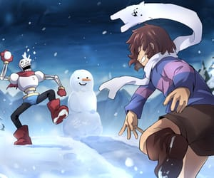 papyrus, undertale, and winter image