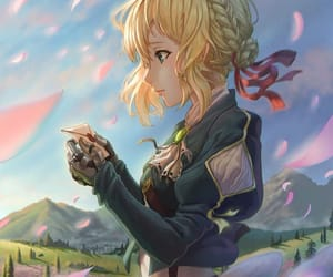 anime, art, and violet evergarden image