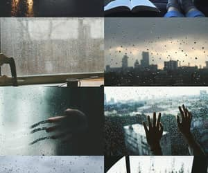 rain, aesthetic, and city image