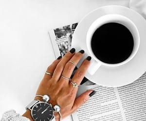 coffee, jewelry, and watch image