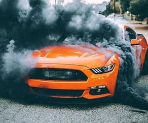 ford, mustang, and orange image