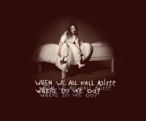 debut album, when we all fall asleep, and billie eilish image