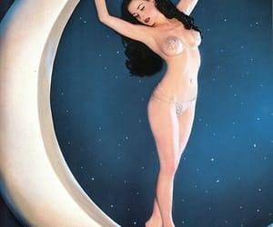 moon, Dita von Teese, and burlesque image