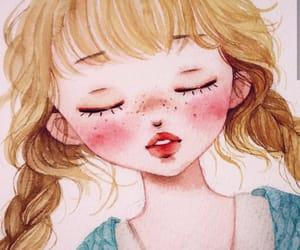 beautiful, creative, and cute illustration image