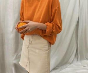 aesthetic, fashion, and orange image