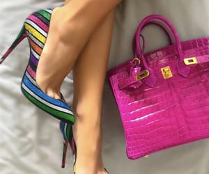 color, heels, and pink image