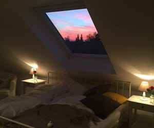 sky, room, and sunset image