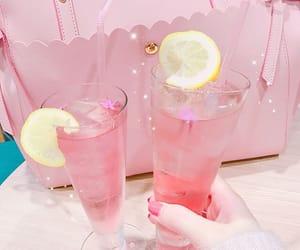 pink, pink lemonade, and pink drink image