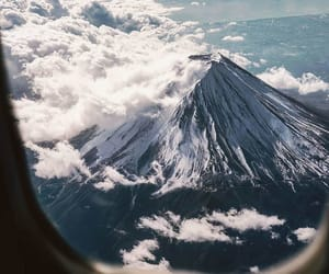 mountains, airplane, and travel image