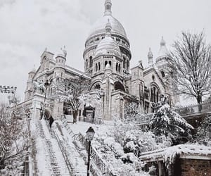 black and white, discover, and paris image