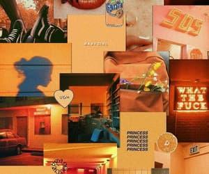 wallpaper, background, and orange image