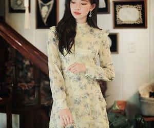 asian fashion, chiffon, and dress image