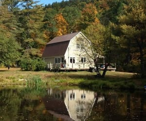 cabin, vermont, and country living image