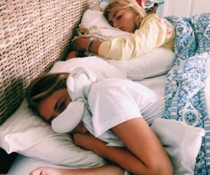 bed, girls, and summer image