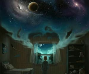boy, Dream, and good night image