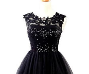 black prom dresses, lace prom dresses, and homecoming dress short image