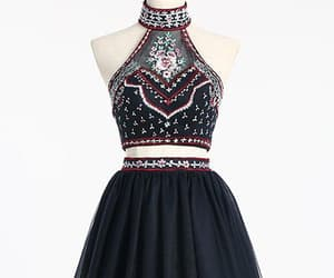 short homecoming dresses, high neck prom dresses, and two pieces prom dresses image
