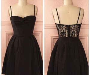 black prom dress, homecoming dresses lace, and lace black prom dress image