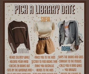 date, cute, and library image