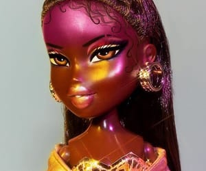 bratz, doll, and gold image