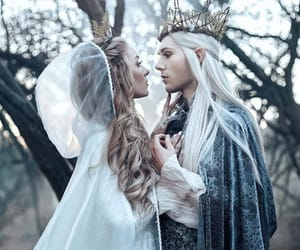 king, white, and elves image